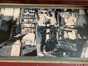 Gus Duckert in his blacksmith shop in Cottage Grove, WI